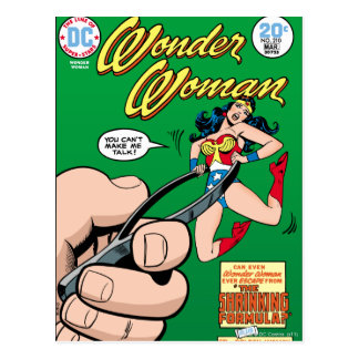 Wonder Woman Shrinking Formula Postcard