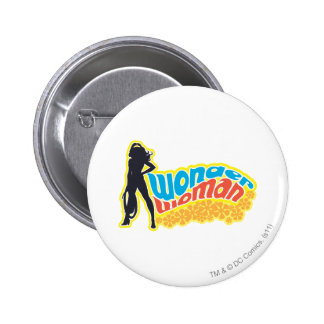 Wonder Woman Silhouette Buttons