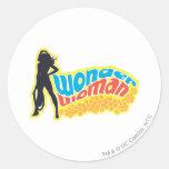 Wonder Woman Silhouette Classic Round Sticker