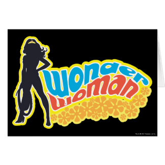 Wonder Woman Silhouette Greeting Card