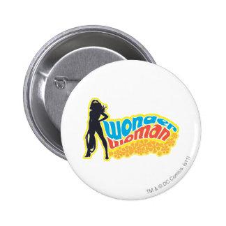Wonder Woman Silhouette Pinback Button