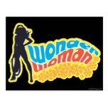 Wonder Woman Silhouette Postcard