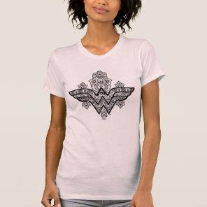 Wonder Woman Spiritual Paisley Hamsa Logo T-Shirt