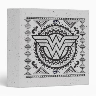 Wonder Woman Spiritual Tribal Design 3 Ring Binder