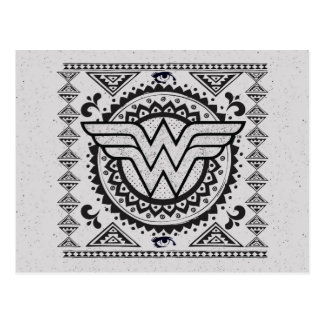 Wonder Woman Spiritual Tribal Design Postcard
