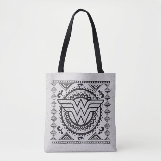 Wonder Woman Spiritual Tribal Design Tote Bag