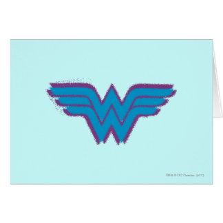 Wonder Woman Spray Paint Logo Card