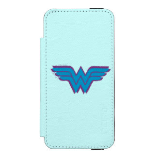 Wonder Woman Spray Paint Logo iPhone SE/5/5s Wallet Case