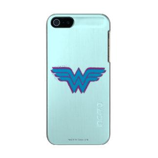 Wonder Woman Spray Paint Logo Metallic Phone Case For iPhone SE/5/5s