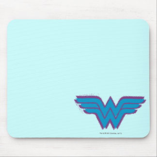 Wonder Woman Spray Paint Logo Mouse Pad