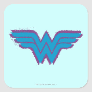 Wonder Woman Spray Paint Logo Square Sticker