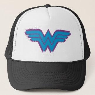Wonder Woman Spray Paint Logo Trucker Hat