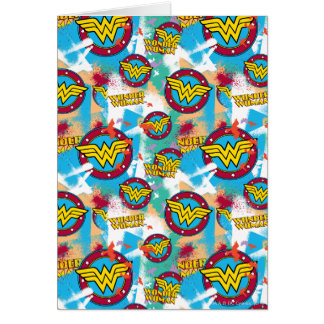 Wonder Woman Spray Paint Pattern Card