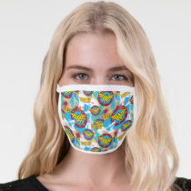 Wonder Woman Spray Paint Pattern Face Mask