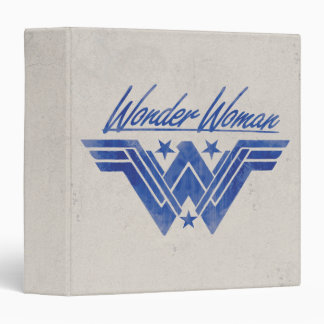 Wonder Woman Stacked Stars Symbol Binder