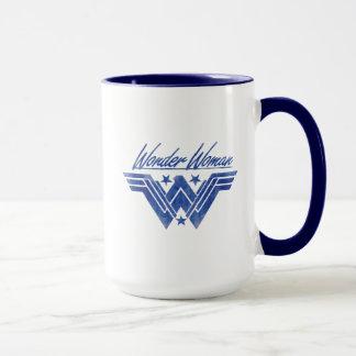 Wonder Woman Stacked Stars Symbol Mug