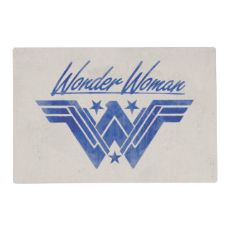 Wonder Woman Stacked Stars Symbol Placemat