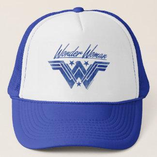 Wonder Woman Stacked Stars Symbol Trucker Hat