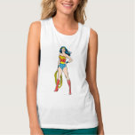 Wonder Woman Standing Flowy Muscle Tank Top