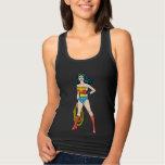 Wonder Woman Standing Jersey Racerback Tank Top