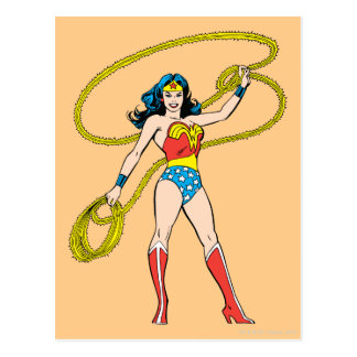 Wonder Woman Standing with Lasso Postcard