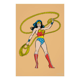 Wonder Woman Standing with Lasso Poster
