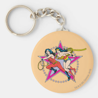 Wonder Woman Star Background Keychain