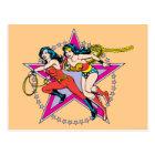 Wonder Woman Star Background Postcard