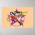 Wonder Woman Star Background Poster