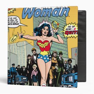 Wonder Woman Starring Pat Carbine 3 Ring Binders