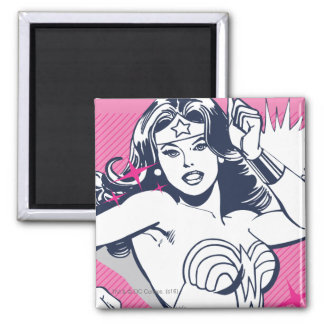 Wonder Woman Strength & Power 2 Inch Square Magnet
