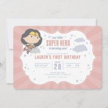 Wonder Woman   Super Hero First Birthday Invitatio Invitation