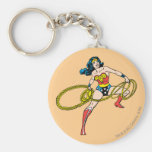 Wonder Woman Swinging Lasso Right Keychain