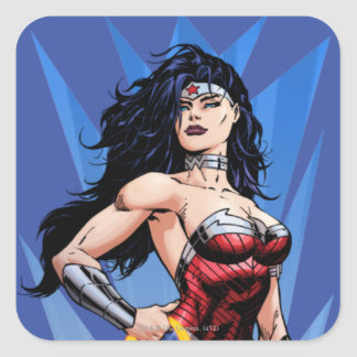 Wonder Woman & Sword Square Sticker