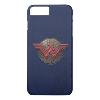 Wonder Woman Symbol Over Concentric Circles iPhone 8 Plus/7 Plus Case