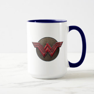 Wonder Woman Symbol Over Concentric Circles Mug