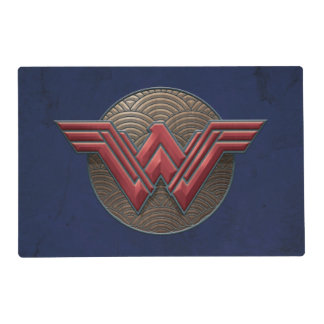 Wonder Woman Symbol Over Concentric Circles Placemat