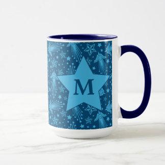 Wonder Woman Symbol Pattern | Monogram Mug