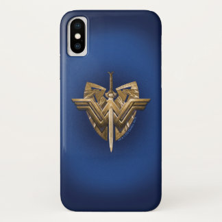Wonder Woman Symbol With Sword of Justice iPhone X Case