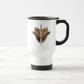 Wonder Woman Symbol With Sword of Justice Travel Mug