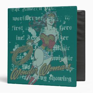 Wonder Woman Text Background Vinyl Binder