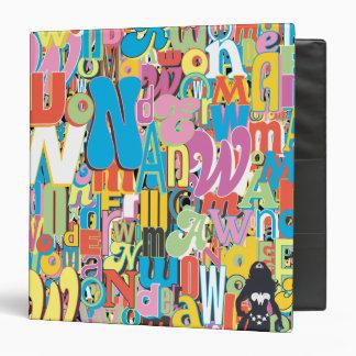 Wonder Woman Text Collage Vinyl Binder