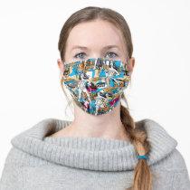 Wonder Woman Toss Pattern Adult Cloth Face Mask