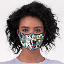 Wonder Woman Toss Pattern Premium Face Mask