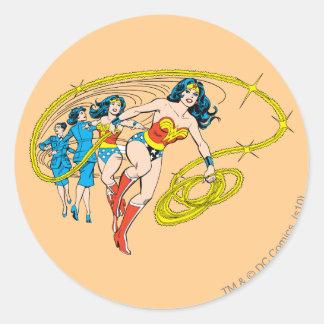 Wonder Woman Transform Classic Round Sticker