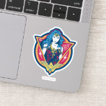 Wonder Woman Tri-Color Graphic Template Sticker