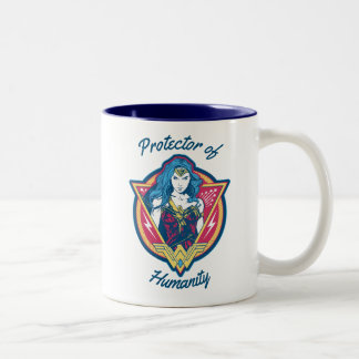 Wonder Woman Tri-Color Graphic Template Two-Tone Coffee Mug