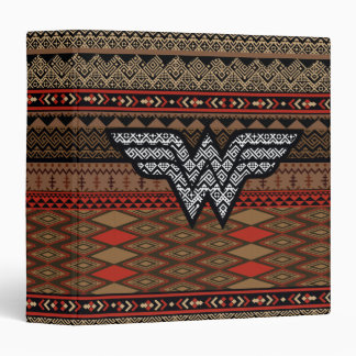 Wonder Woman Tribal Pattern Binder