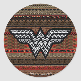 Wonder Woman Tribal Pattern Classic Round Sticker