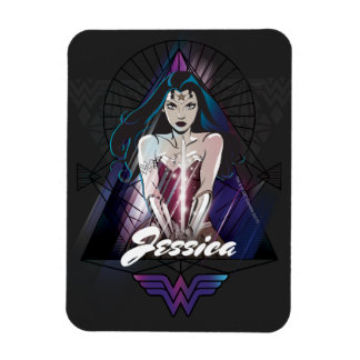 Wonder Woman Tribal Triangle Magnet